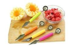 Coupe pastèque-acier inoxydable & cuillère à melon