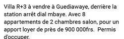 Vente Immeuble - Guediawaye