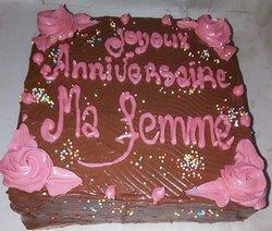 Gâteau d'anniversaire et de mariage