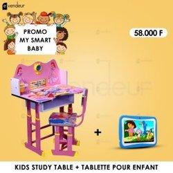 Table d'études - Tablette enfants - Ampoule caméra - Ventilateur