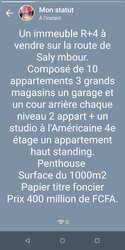 Vente immeuble R+4 - Saly Mbour