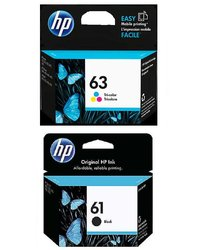 Promo pack 2 cartouches d'encre HP 63 noir et couleur