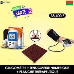 Promo Pack Glucomètre - Tensiomètre - Planche thérapeutique