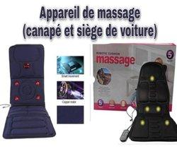 Appareil de massage voiture - canapé