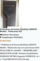 * Ordinateurs de bureau (Desktop) Lenovo