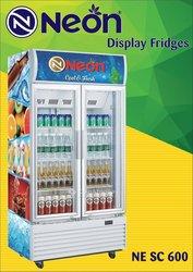 Réfrigérateur LED vertical vitré à armoire