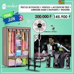 Pack Armoire - TV LG - Ventilateur