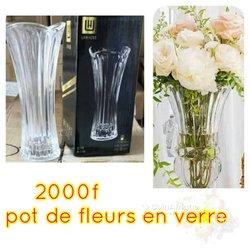 Pot de fleurs en verre