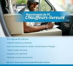 Recrutement  chauffeurs - livreurs