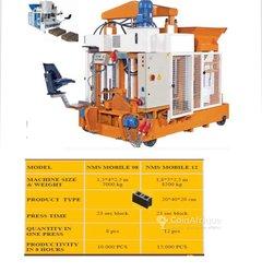 Mobile block making machines