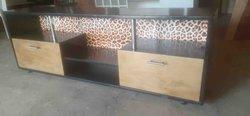 Meuble télé personnalisé léopard