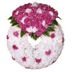 Couronne de fleur funéraire