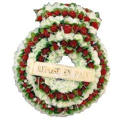 Couronne de fleurs funéraires