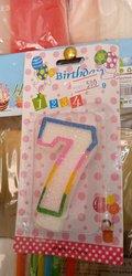 Bougie d'anniversaire en numéro