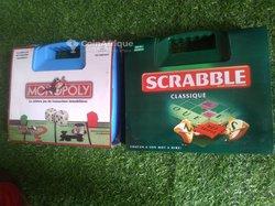 Valise de Scrabble et Monopoly