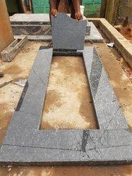 Confection pierre tombale en granite et céramique
