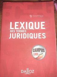 Livre Lexique Des Termes Juridiques