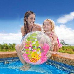 Ballon de plage pour aquarium 61cm intex