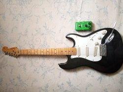 Guitare solo - pédale à effet overdrive