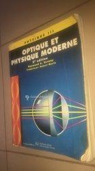 Livre d'optique - physique moderne