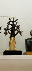 Baobab sculpté en bronze