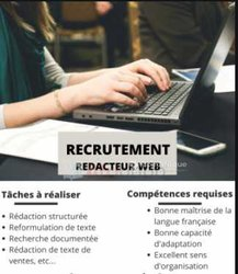 Recrutement - content writer