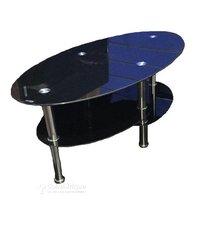 Table vitrée ovale