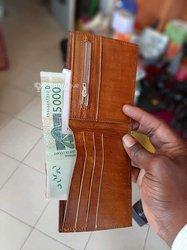 Porte monnaie en croco