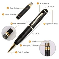 Gadget stylo caméra espion hd enregistreur vidéo et audio