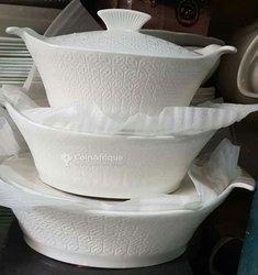Soupières en porcelaine - lot de 3
