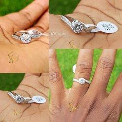 Bagues de fiançailles en argent - diamant