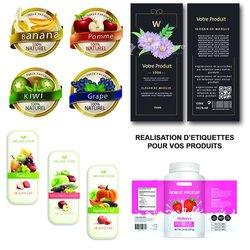 Réalisation étiquettes professionnelles et emballages