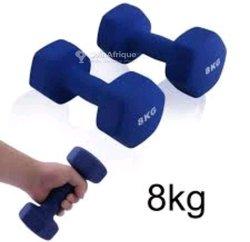 Paire Haltères de 8 kg