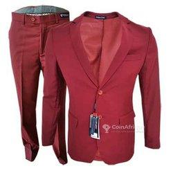 Costume rouge bordeaux -  2 boutons