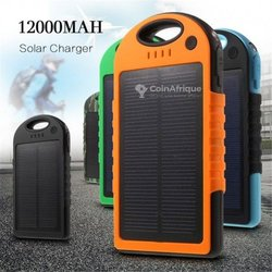 Batterie externe power bank solaire - 12000 mah