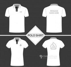 Impression logo sur t-shirt et lacoste