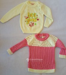 Pull-over  fillette 1 à 3 ans