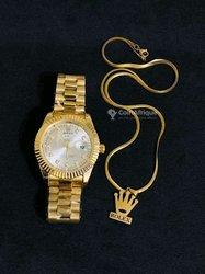 Montre Rolex + chaines