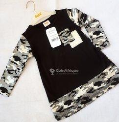 Haut-robe couleur argent et noir