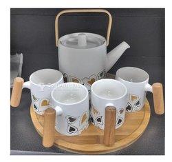 Set de tasses sous tasse - porcelaine