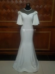 Robe blanche sirène