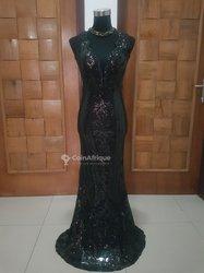 Robe noir paillette