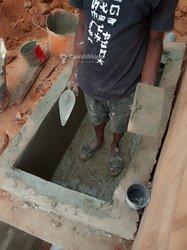Construction des fosses septiques biofil non vidangeable