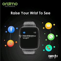 Montre intelligente multifonction Smart Watch tempo Osw
