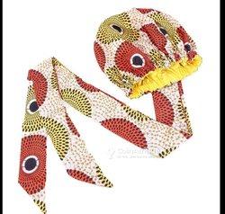 Bonnets - foulards soie imprimé wax