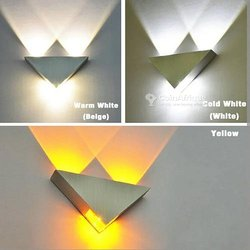 Décorative triangle wall lights