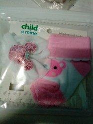 Chaussettes et serre tête pour bébé