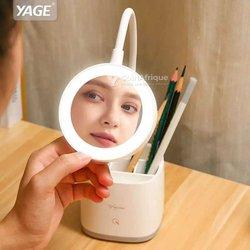 Lampe LED de table et miroir