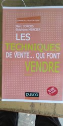 Livre Les Techniques De Vente... Qui Font Vendre