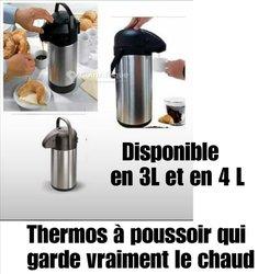Thermos à poussoir + Bouilloire + Chauffe eau
